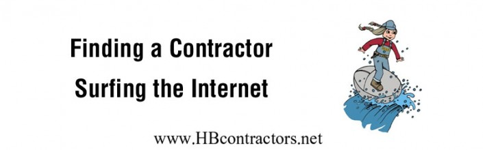 Surfing the Internet for a Building Contractor